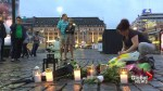 People in Turku, Finland lay flowers near site of stabbing attack