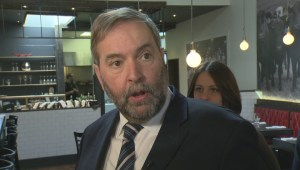Mulcair reacts to death of Sgt. Andrew Joseph Doiron
