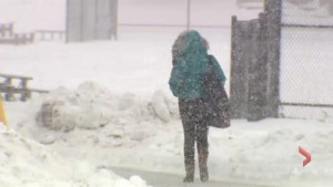 Raw video: Halifax hit by harsh snow storm