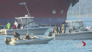 Capilano River fishermen vs freighters