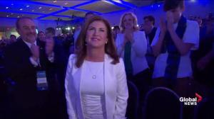 Rona Ambrose recognized during Conservative leadership convention