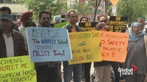 Calgary parents protest school bus changes at Calgary Board of Education
