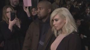 Kim Kardashian shows off new blonde locks in Paris