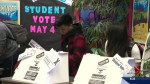 Alberta students vote in mock election