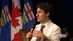 Justin Trudeau discusses Donald Trump, pipelines, climate change at Calgary event