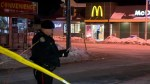 Aftermath footage of shooting at Toronto McDonald's