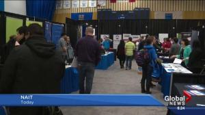 What's the mood at the NAIT career fair?