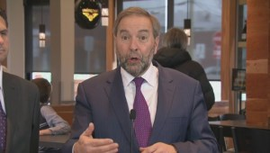 Mulcair visits Lac-Megantic to remind voters about Conservative rail-safety failures