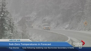 Cold weather moving into province