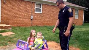 Cop pulls his kids over for 'being too cute', chase ensues