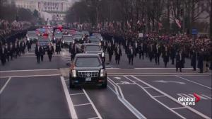 Trump Inauguration: mixture of boos and cheers during parade