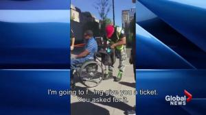 Man in wheelchair allegedly harassed by Montreal police
