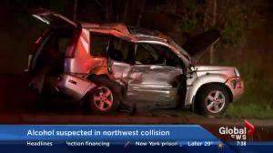Alcohol suspected in NW collision