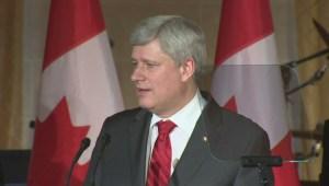 PM Harper talks terrorism at an event in Winnipeg