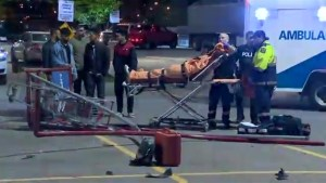 Fleeing car injures several people in east end Toronto parking lot