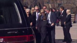 Rob Ford's family arrives at city hall for the former mayor's funeral procession