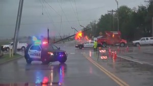 Severe weather hits Oklahoma and Texas for third day straight