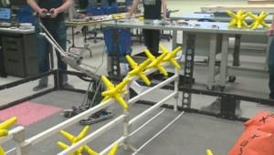 Archbishop Jordan students show off world-class robot