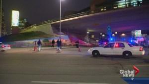 Calgary police update officer involved shooting near Langevin Bridge