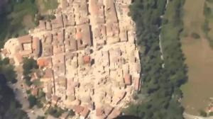 Aerial footage shows aftermath of devastating earthquake in Italy
