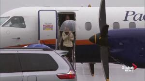 Prince William and Kate arrive in Bella Bella after bumpy flight