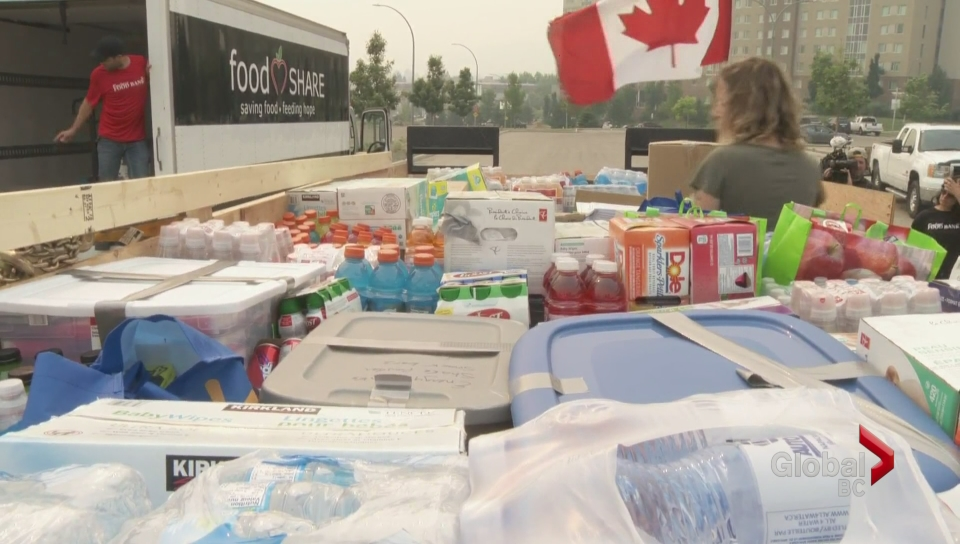 Fort Mc Murray donations for BC wildfire evacuees