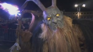 Thousands line streets in Austrian town for Krampus run