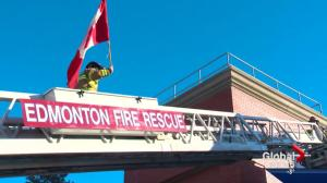 Edmonton firefighters brave the elements for a good cause