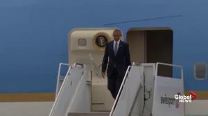 President Obama arrives in Ottawa for Three Amigos summit