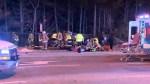 Aftermath of fatal car crash in Toronto