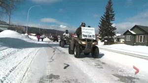 OHV users shut down main artery in Blairmore for rally