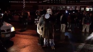 Tensions rise between protesters and police in Ferguson waiting for grand jury decision