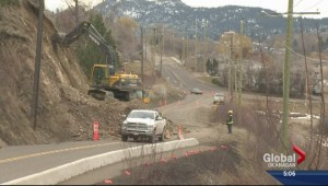 Rock slide closes Oyama Road in Lake Country