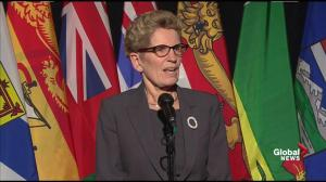 Wynne says climate change focus should be on impact 'as provinces and a nation'