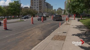 René Lévesque Blvd. fixed after being left unpaved because of parked car