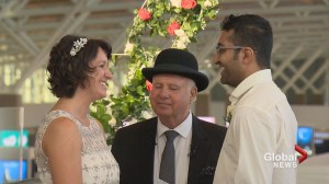 Calgary couple ties the knot at YYC International airport