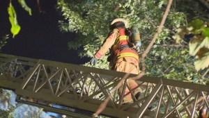 Raw video: Fire in île-Des-Sœurs