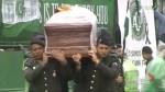 Bodies of plane crash arrive at Chapecoense stadium for ceremony