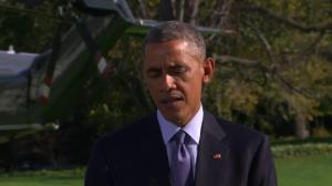 "Obama declares Ebola can be defeated, urges ""robust"" international response"