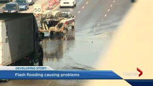 Calgary deals with flash flood after storm