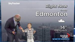 Special guest Elias joins Mike Sobel's weather forecast