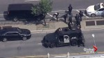 Aerial footage of shooting at New York City's Bronx Lebanon hospital