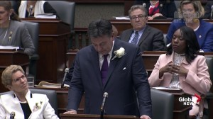 Ontario finance minister emotional while speaking about caregivers