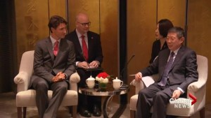Trudeau pushes Chinese leaders on human rights during visit