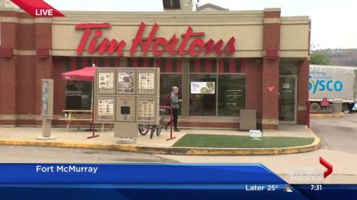 Re Opening Of Fort McMurray Tim Hortons Sign Of Revival