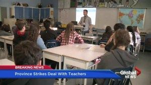 Province strikes deal with teachers