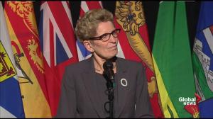 Wynne comments on decision to arm Queen's Park constables to carry firearms