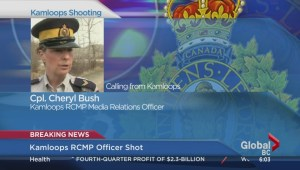 Kamloops RCMP officer shot during a traffic stop
