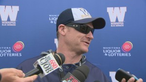 Blue Bombers players impressing Mike O'Shea