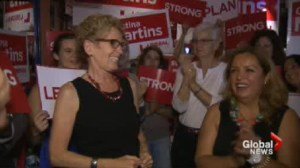 Wynne hits NDP Toronto ridings on final day of campaigning